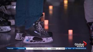 Edmonton candlelit public skate pays tribute to Humboldt Broncos