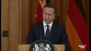 "British PM Cameron calls Paris attack ""horrific"""