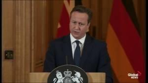 """British PM Cameron calls Paris attack """"horrific"""""""