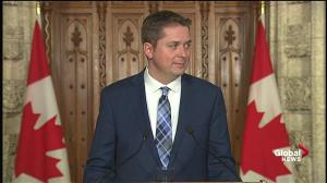 Scheer says Aga Khan case closed on Trudeau, questions on ethic remain