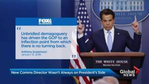 Scaramucci's deleted tweets not the only messages he has trouble with (01:51)
