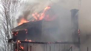 Fire destroys Grafton area home