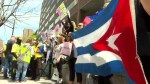 Montrealers protest closure of Canadian Embassy's immigration office in Cuba