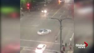 Viewer captures car driving in circles at Main and Hastings