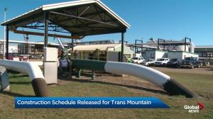Construction schedule released for Trans Mountain project