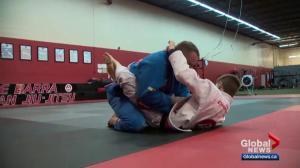 Global Edmonton MVP Stacy Duchscherer competes at world jiu-jitsu championship