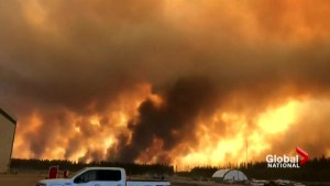 High Level wildfire evacuees hoping for rain in the forecast