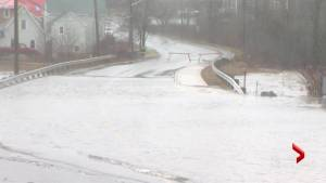 Flooding causing road closures in Saint John