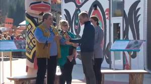 Prince William and Kate given wooden eagle sculpture as gift while in Carcross