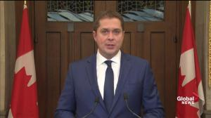 Andrew Scheer calls on Justin Trudeau to resign as Prime Minister