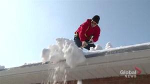 Ice damming causing problems in the Durham Region