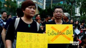 Hong Kong protesters against extradition bill call for city's leader to step down