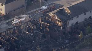 Fire guts 11 Hamilton townhomes