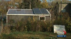 U of A students celebrate completion of high-tech solar greenhouse (01:21)