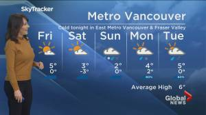 B.C. evening weather forecast: Jan. 21 (02:04)
