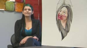 Edmonton artist memorializes MMIW in moving paintings