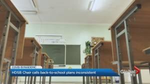 Coronavirus: HDSB chair says Ontario's back-to-school plan is inconsistent