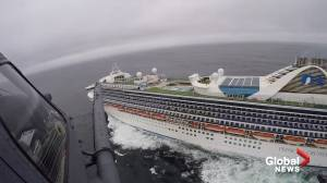 National Guard delivers coronavirus test kits to stranded Grand Princess cruise ship off California coast