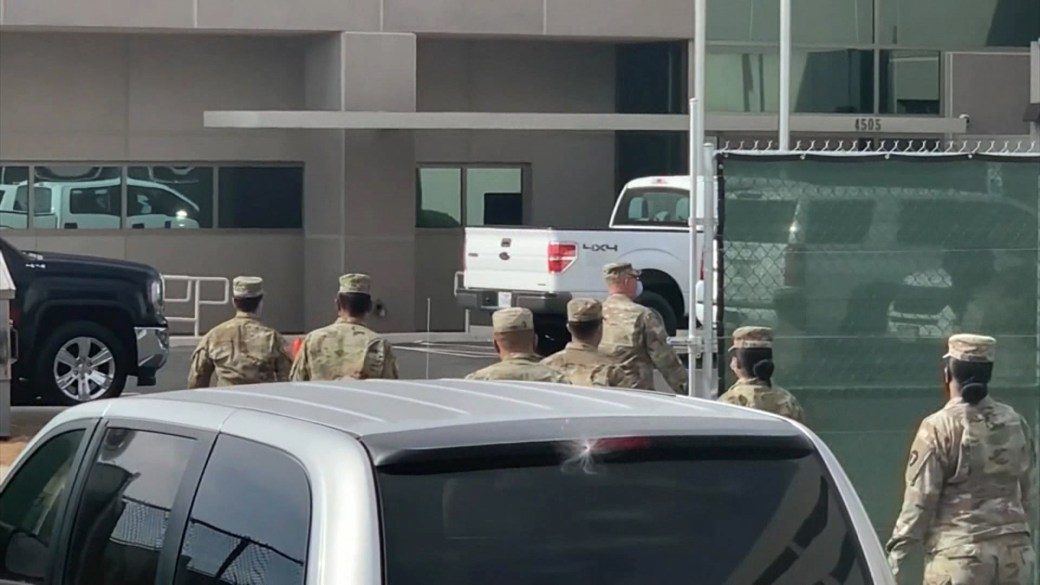Click to play video 'Coronavirus: Texas National Guard deployed to El Paso County as morgue overwhelmed'