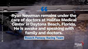 Ryan Newman 'awake and speaking' following Daytona 500 crash
