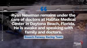 Ryan Newman 'awake and speaking' following Daytona 500 crash