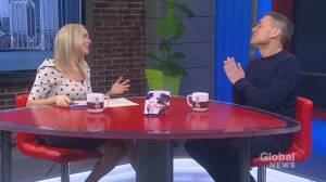 Comedian James Mullinger visits Global News Morning