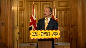 Coronavirus outbreak: Dominic Raab asked how long COVID-19 lockdowns expected to last in the UK
