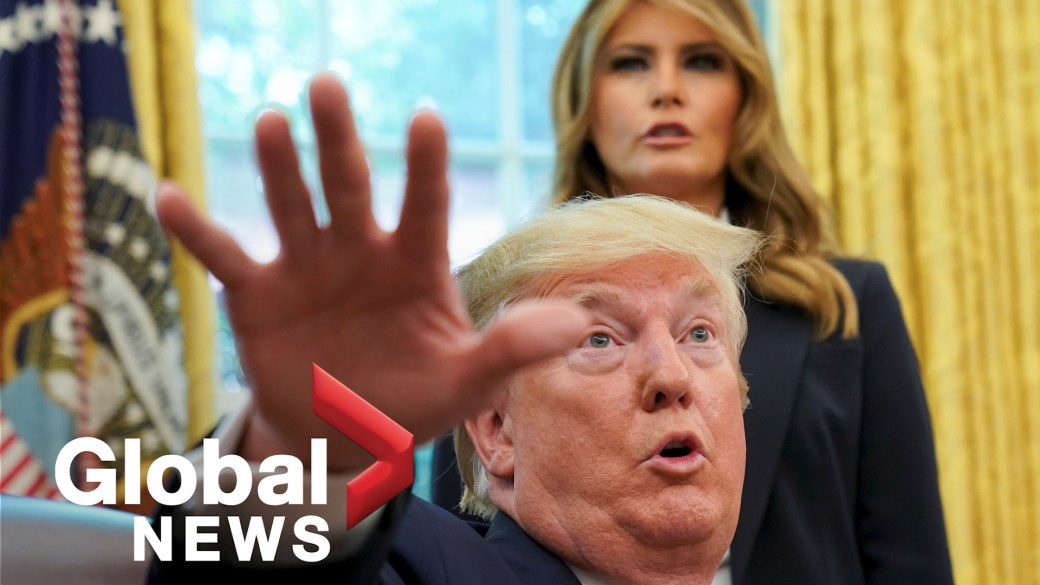Click to play video 'President Donald Trump, first lady test positive for coronavirus'