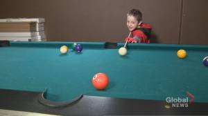 6-year-old Ontario boy gains social media following showing off pool skills