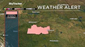 Special air quality statement issued for areas west of Edmonton (01:36)