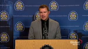 Calgary police speak to media after missing man found dead in Slave Lake