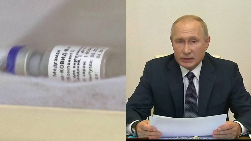 Click to play video 'Russia approves first COVID-19 vaccine, Putin says his daughter was inoculated'