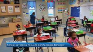Coronavirus: GTA schools to reopen Tuesday for in-class learning (01:39)