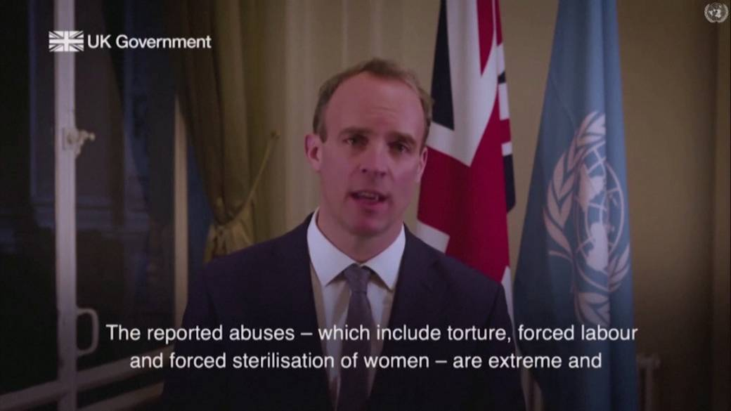 Click to play video 'Britain denounces abuses against Uyghurs in China's Xinjiang region'