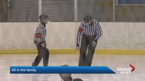 Father-son duo volunteer in support of Edmonton Minor Hockey Week