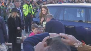 Prince William, Kate Middleton make first public appearance since crisis talks