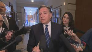 Legault alleges assault weapons behind barricade while Mohawk officials deny claim