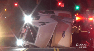Pickup truck flees collision with transport truck on Hwy. 7 east of Peterborough: OPP (00:37)