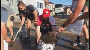 Canadian Rugby team helps clean up Japan after typhoon hits region