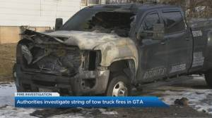 Police investigating multiple tow-truck fires in Toronto, York Region