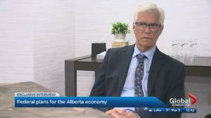 Jim Carr in Edmonton, speaks about Teck mine, Alberta economy