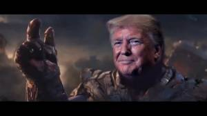 Trump re-election campaign tweets video of Trump as Thanos