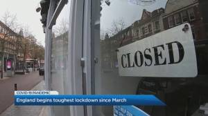 U.K. goes into national lockdown, as COVID-19 variant continues spread (04:32)