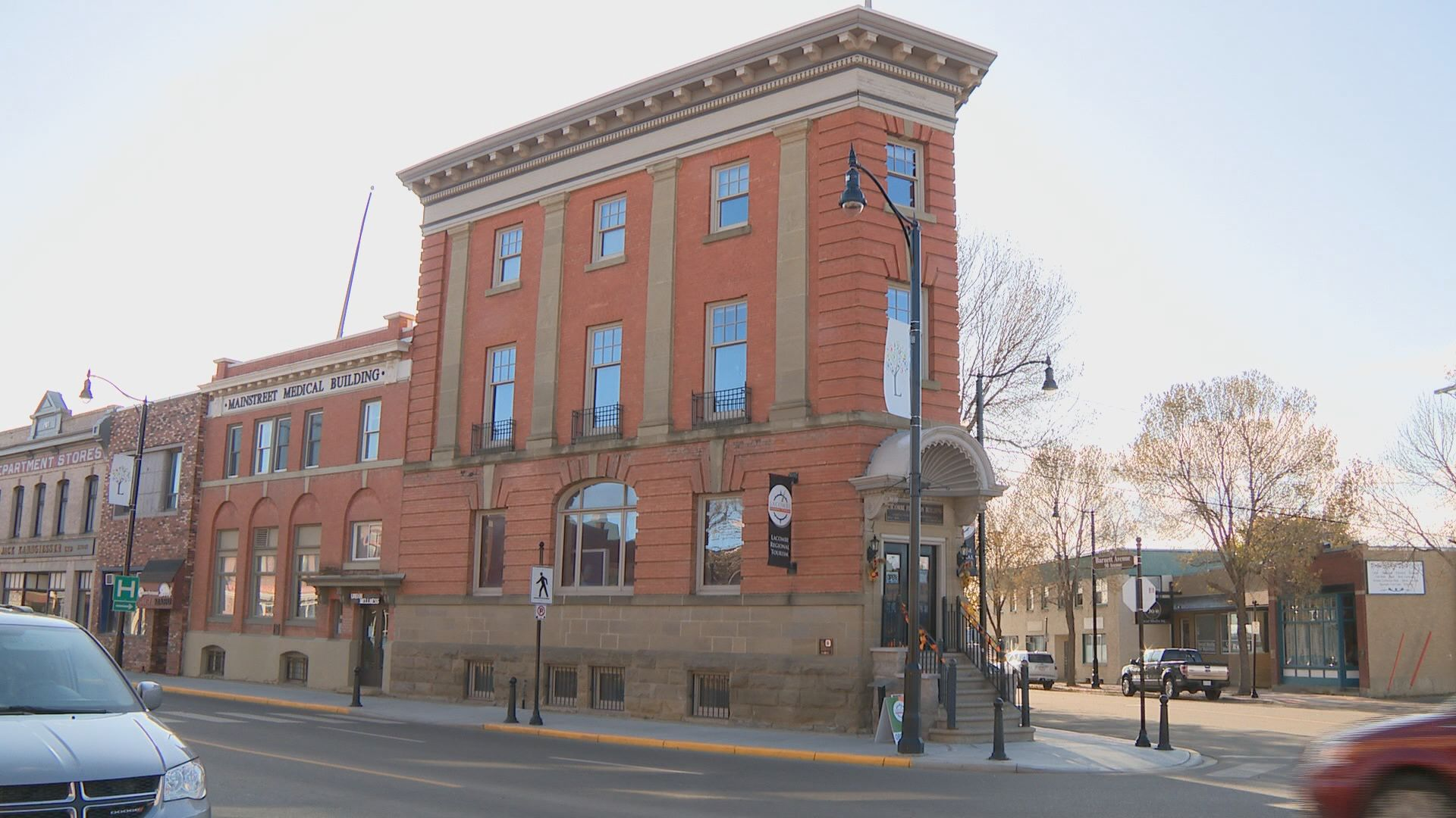 Historic flatiron building in Lacombe on the market for $1.3M