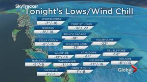 B.C. evening weather forecast: Nov 28