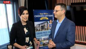 Global's Kahla Evans talks to  Dr. Mike Czubryt live at the St. Boniface Hospital Mega Million Choices Lottery