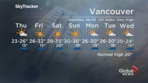 B.C. evening weather forecast: June 23 (01:58)