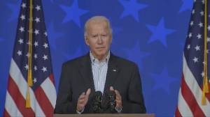 U.S. election: Joe Biden calls for calm, patience as vote count continues (01:43)