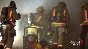 Fire breaks out at business on The Kingsway in Peterborough (01:26)