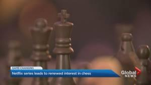 Chess popularity swells on Netflix series (01:37)